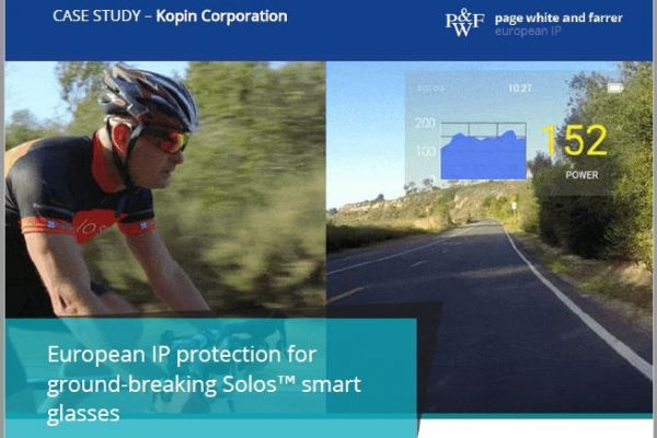 Page White and Farrer case study: European IP for ground-breaking Solos smart glasses