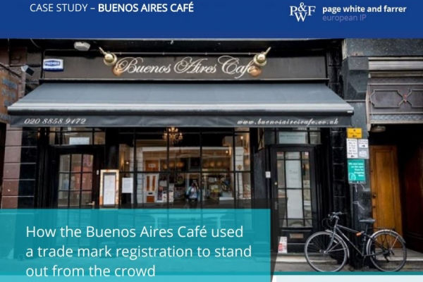 Page White and Farrer case study: How the Buenos Aires Café used a trade mark registration to stand out from the crowd