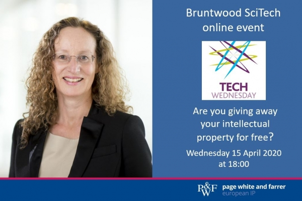 Virginia Driver, who specialises in intellectual property strategy and protection for the tech and electronics sectors, will be presenting at the online Bruntwood SciTech Wednesday event on 15th April.