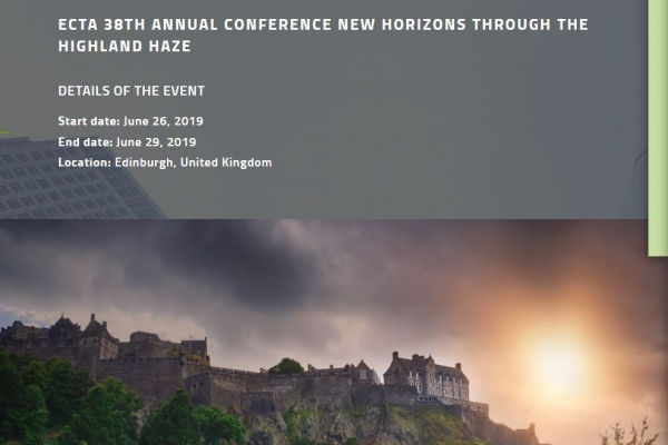 James Cornish and Oliver Spies are going to the 38th ECTA Annual Conference
