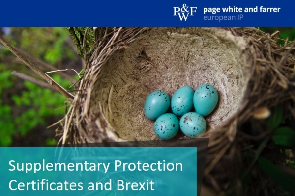 Supplementary Protection Certificates (SPCs) and Brexit