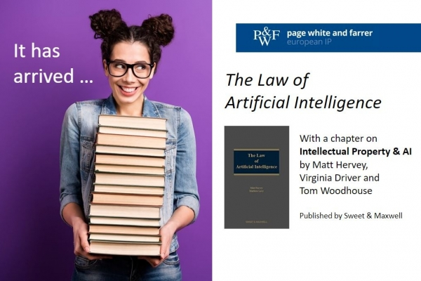 Virginia Driver and Tom Woodhouse contribute to IP chapter of book on 'The Law of Artificial Intelligence'