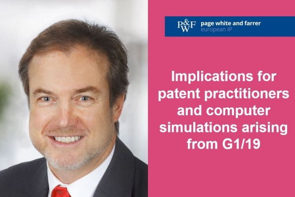 Key implications for patent practitioners in connection with computer simulations arising from G1/19