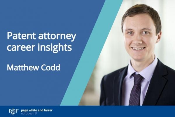 Patent attorney career insights, Matthew Codd