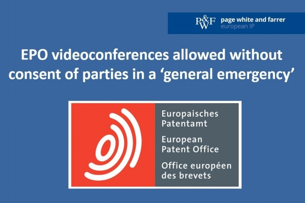 EBoA decides that EPO videoconferences are allowed without consent of parties in a 'general emergency'