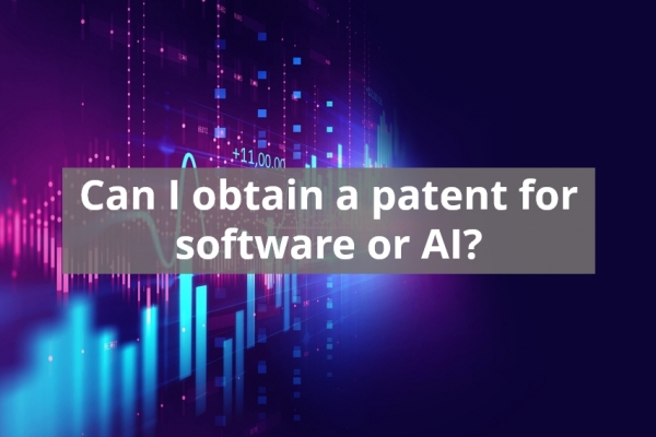 Can I obtain a patent for software or AI?
