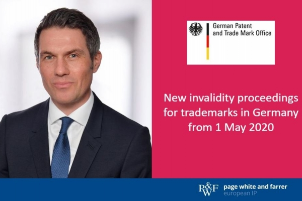 New invalidity proceedings for trademarks in Germany from 1 May 2020
