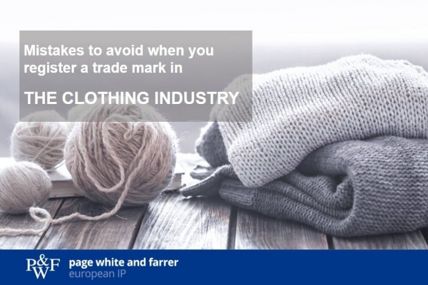 Mistakes to avoid when you register a trade mark in the clothing industry