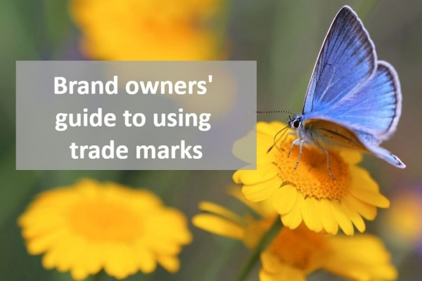 Brand owners' guide to using trade marks